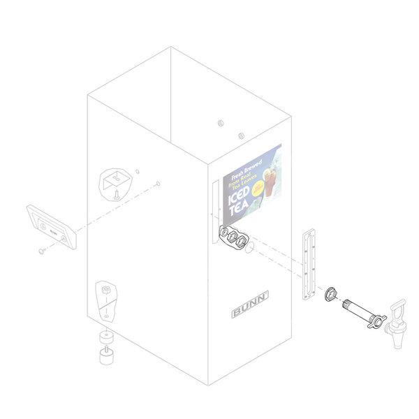 Bunn 03362.1004 Black Faucet Shank Assembly for TD4 Iced Tea Dispensers