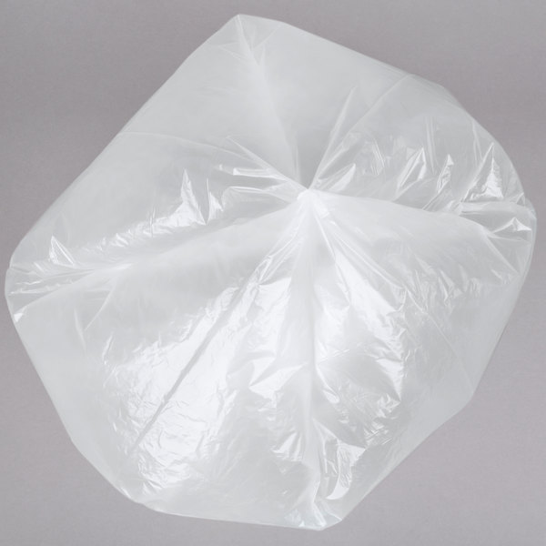 1.2 ml AEP 434730C Clear X Heavy Duty Can Liner 56 Gallon Pack of 100