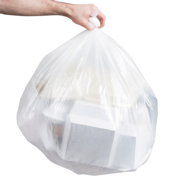 "Berry AEP 333930C 33 Gallon 1.2 Mil 33"" x 39"" Low Density Heavy Duty Clear Can Liner / Trash Bag - 100/Case"