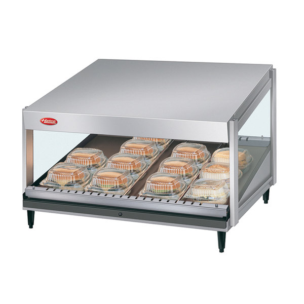 "Hatco GRSDS-60 Glo-Ray 60"" Slanted Single Shelf Merchandiser - 120V Main Image 1"