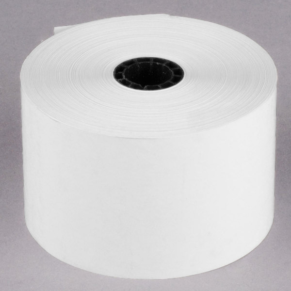 """44 mm (1 3/4"""") x 230' Thermal Cash Register POS Paper Roll Tape - 10/Pack"""