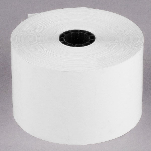 """Point Plus 44 mm (1 3/4"""") x 230' Thermal Cash Register POS Paper Roll Tape - 10/Pack Main Image 1"""
