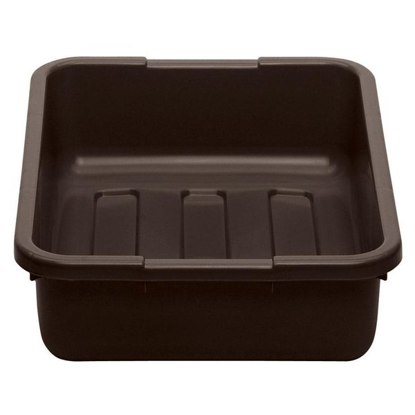"Cambro 21155CBP131 Poly Cambox 21"" x 15"" x 5"" Dark Brown Polyethylene Bus Tub with Ribbed Bottom Main Image 1"