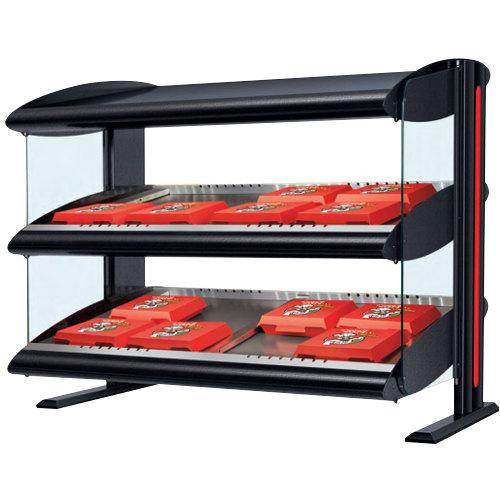 "Hatco HXMH-48D LED 48"" Horizontal Double Shelf Merchandiser - 120/208V"