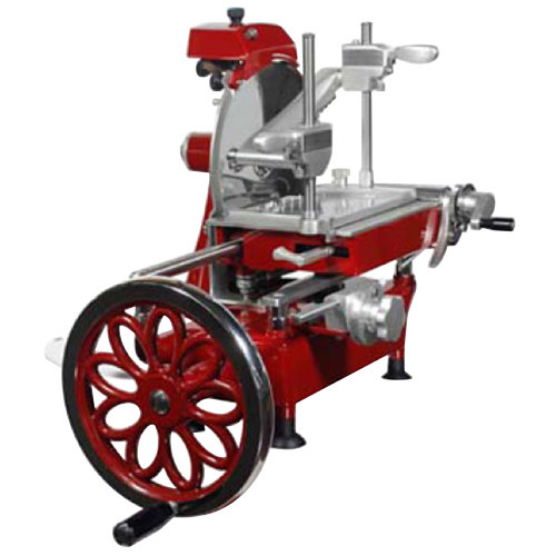 """Volano 10"""" Manual Meat Slicer with Flower Wheel"""
