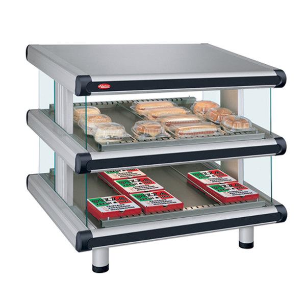 "Hatco GR2SDS-24D Glo-Ray Designer 24"" Slanted Double Shelf Merchandiser - 120V Main Image 1"