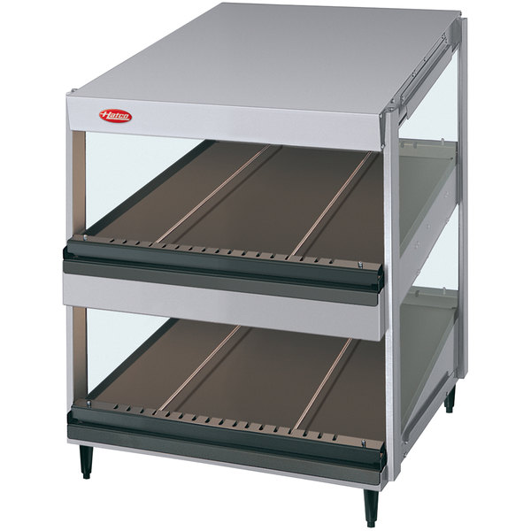 "Hatco GRSDS-24D Glo-Ray 24"" Slanted Double Shelf Merchandiser - 120V"