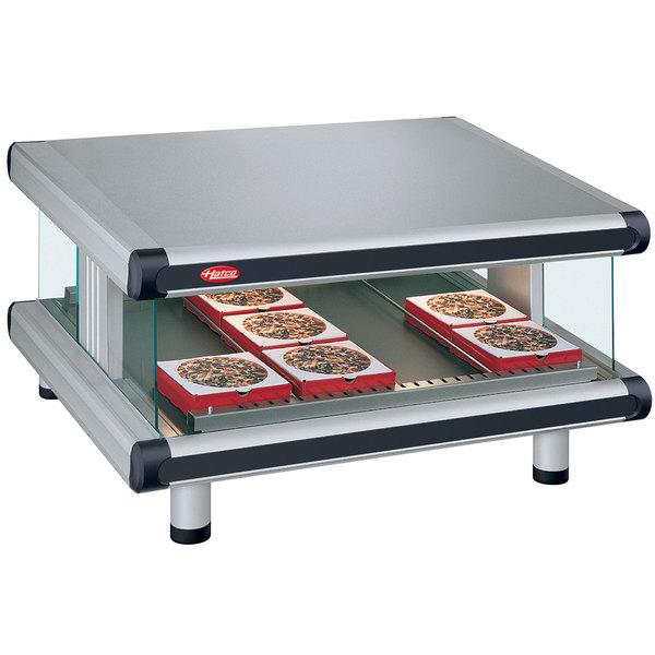 "Hatco GR2SDS-48 Glo-Ray Designer 48"" Slanted Single Shelf Merchandiser - 120V Main Image 1"
