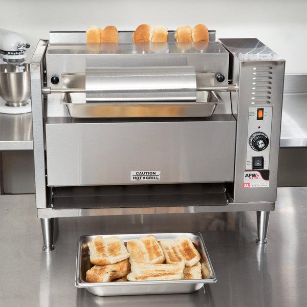 APW Wyott M-83 Vertical Conveyor Bun Grill Toaster - 208V Main Image 10