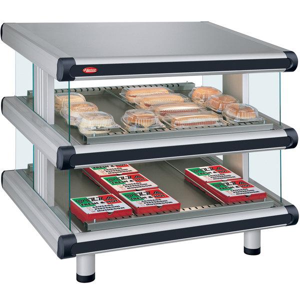 """Hatco GR2SDS-60D Glo-Ray Designer 60"""" Slanted Double Shelf Merchandiser - 120/240V"""