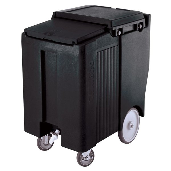 Cambro ICS175TB110 SlidingLid™ Black Portable Ice Bin - 175 lb. Capacity Tall Model Main Image 1