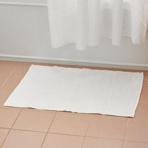 """20"""" x 30"""" 100% Open End Cotton Hotel Bath Mat 6 lb. - 12/Pack"""