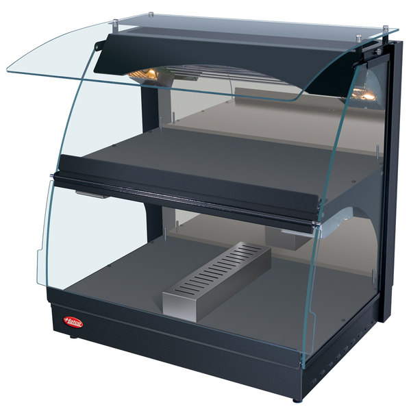 """Hatco GRCMW-1DH Glo-Ray 26"""" Double Shelf Curved Merchandising Warmer with Humidity Control - 1660W"""