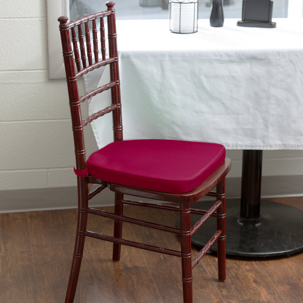 """Lancaster Table & Seating Wine Red Chiavari Chair Cushion - 1 3/4"""" Thick"""