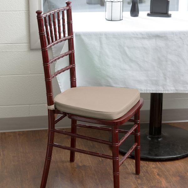 "Lancaster Table & Seating Gold Chiavari Chair Cushion - 1 3/4"" Thick"