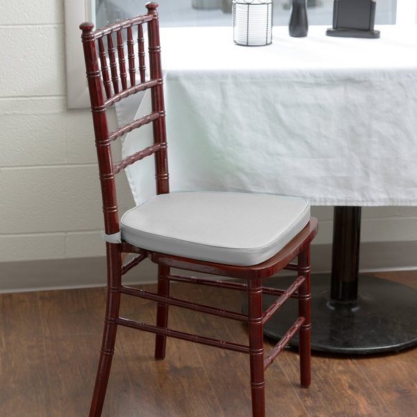 "Lancaster Table & Seating Silver Chiavari Chair Cushion - 1 3/4"" Thick"