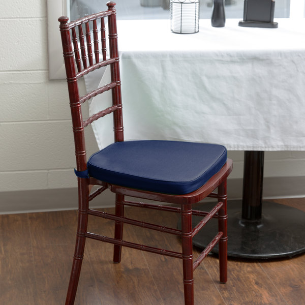 "Lancaster Table & Seating Navy Blue Chiavari Chair Cushion - 1 3/4"" Thick"