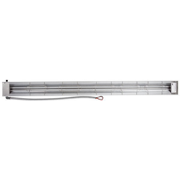 """Hatco GRA-54D Glo-Ray 54/"""" Aluminum Dual Infrared Warmer 120V 3/"""" Spacer 1850W"""