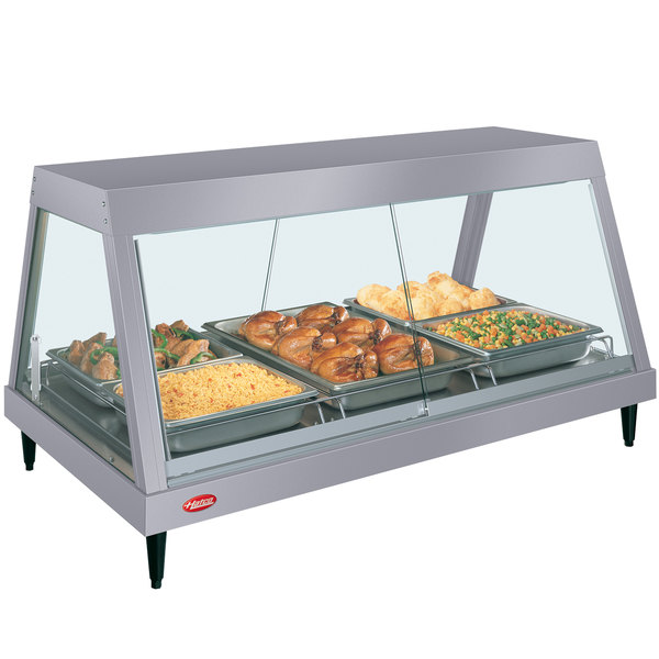 "Hatco GRHD-3P Gray Granite Stainless Steel Glo-Ray 45 1/2"" Full Service Single Shelf Merchandiser Main Image 1"