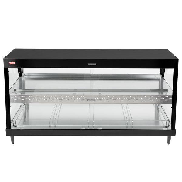 "Hatco GRHD-4PD Black Stainless Steel Glo-Ray 58 1/2"" Full Service Dual Shelf Merchandiser - 120/208V"