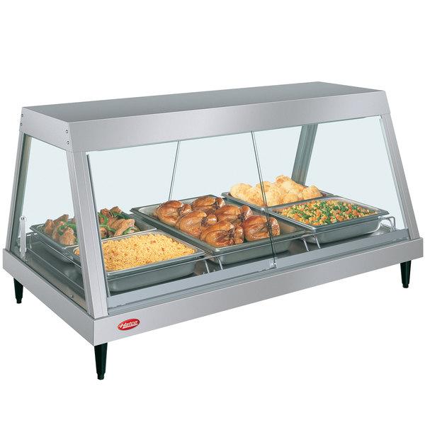 "Hatco GRHD-3P Stainless Steel Glo-Ray 45 1/2"" Full Service Single Shelf Merchandiser"