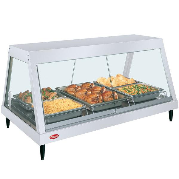 "Hatco GRHD-3P White Granite Stainless Steel Glo-Ray 45 1/2"" Full Service Single Shelf Merchandiser Main Image 1"