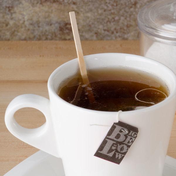 "Royal Paper R810 5 1/2"" Eco-Friendly Wood Coffee Stirrer - 10000/Case"