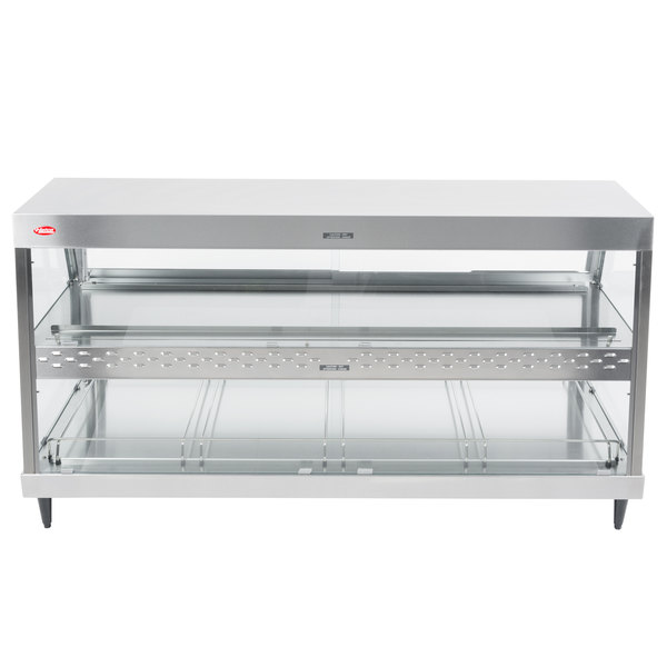 "Hatco GRHD-4PD Stainless Steel Glo-Ray 58 1/2"" Full Service Dual Shelf Merchandiser - 120/208V"