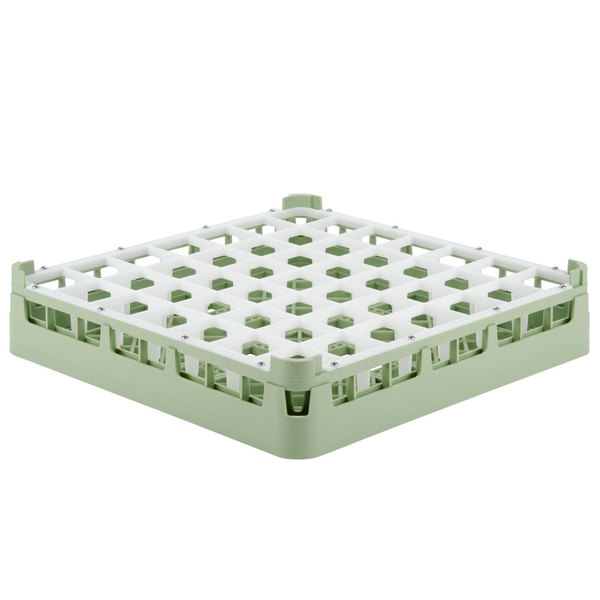 "Vollrath 52699 Signature Full-Size Light Green 49-Compartment 2 13/16"" Short Glass Rack Main Image 1"