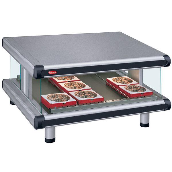 """Hatco GR2SDS-24 Gray Granite Glo-Ray Designer 24"""" Slanted Single Shelf Merchandiser - 120V"""