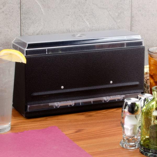 Vollrath 3820-06 Straw Boss Single Sided Bulk Straw Dispenser - Black
