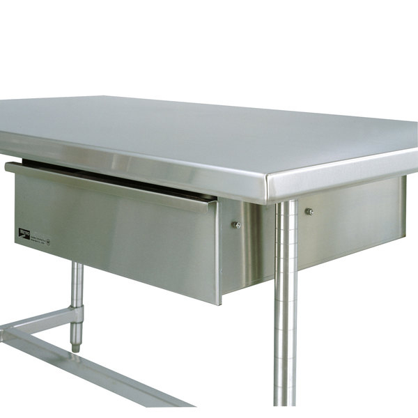 Metro WTDS X Stainless Steel Deluxe Work Table Drawer - Stainless steel work table with drawers