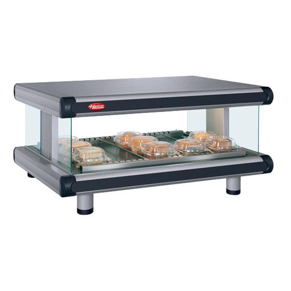 "Hatco GR2SDH-60 Gray Granite Glo-Ray Designer 60"" Horizontal Single Shelf Merchandiser - 120V"