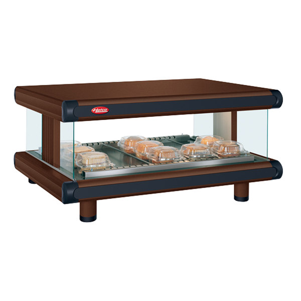 "Hatco GR2SDH-36 Antique Copper Glo-Ray Designer 36"" Horizontal Single Shelf Merchandiser - 120V"