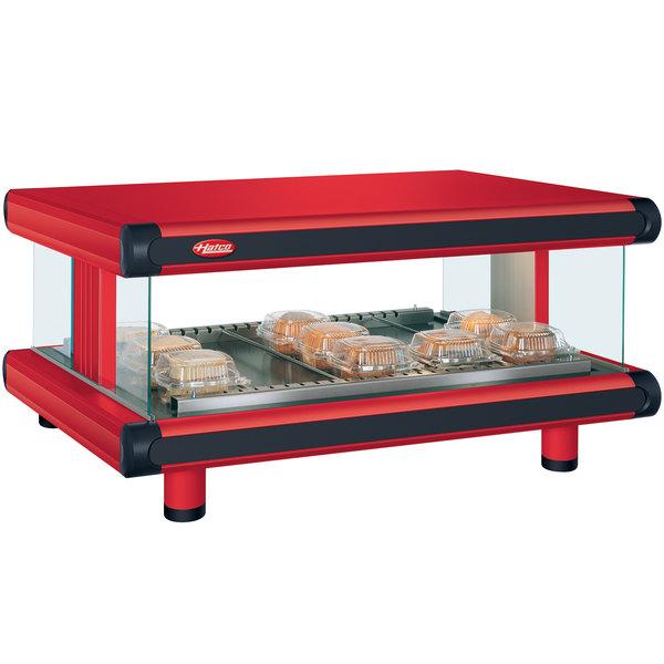 "Hatco GR2SDH-30 Warm Red Glo-Ray Designer 30"" Horizontal Single Shelf Merchandiser - 120V"