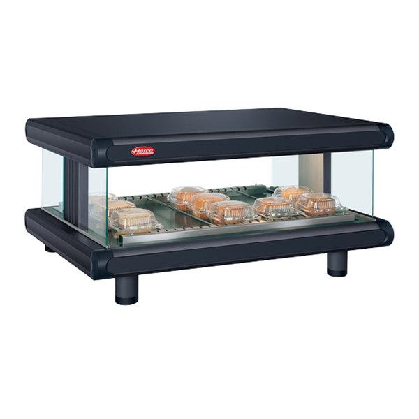 "Hatco GR2SDH-54 Black Glo-Ray Designer 54"" Horizontal Single Shelf Merchandiser - 120V"