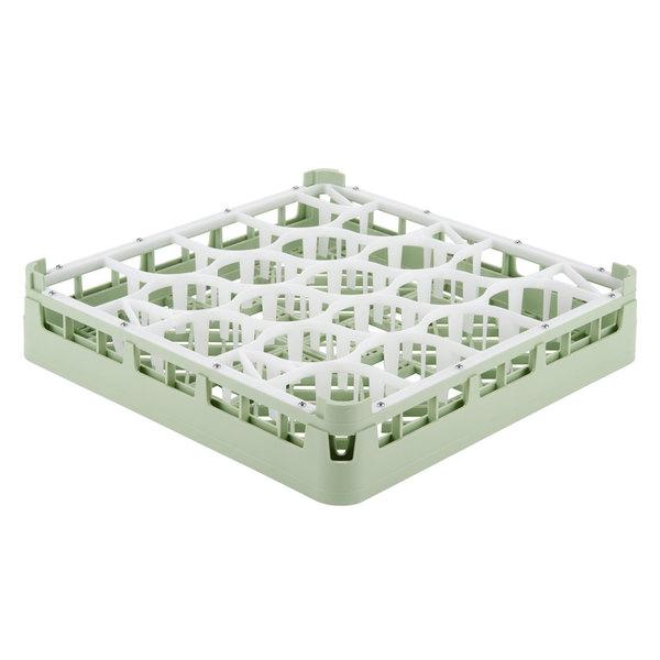 "Vollrath 52692 Signature Lemon Drop Full-Size Light Green 20-Compartment 3 1/4"" Short Plus Glass Rack Main Image 1"