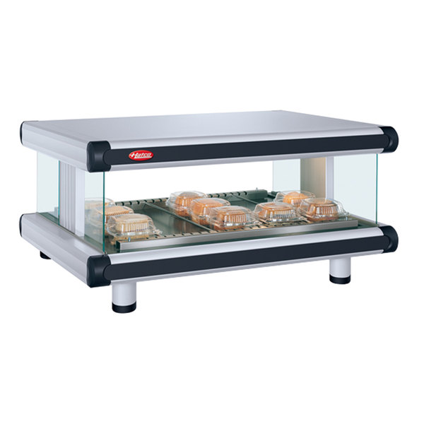 "Hatco GR2SDH-36 White Granite Glo-Ray Designer 36"" Horizontal Single Shelf Merchandiser - 120V"