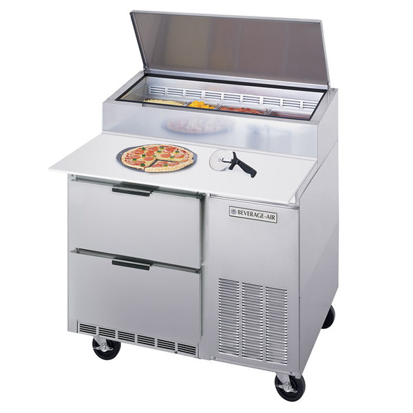 "Beverage-Air DPD46-2 46"" Two Drawer Pizza Prep Table"