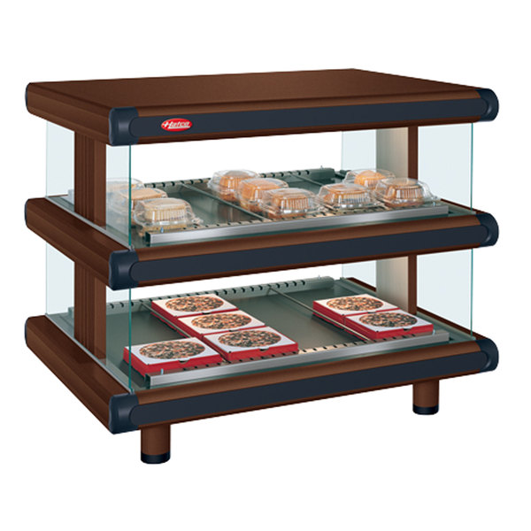 "Hatco GR2SDH-24D Antique Copper Glo-Ray Designer 24"" Horizontal Double Shelf Merchandiser - 120V"