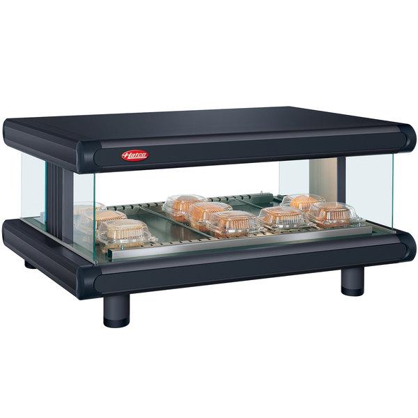 "Hatco GR2SDH-30 Black Glo-Ray Designer 30"" Horizontal Single Shelf Merchandiser - 120V"