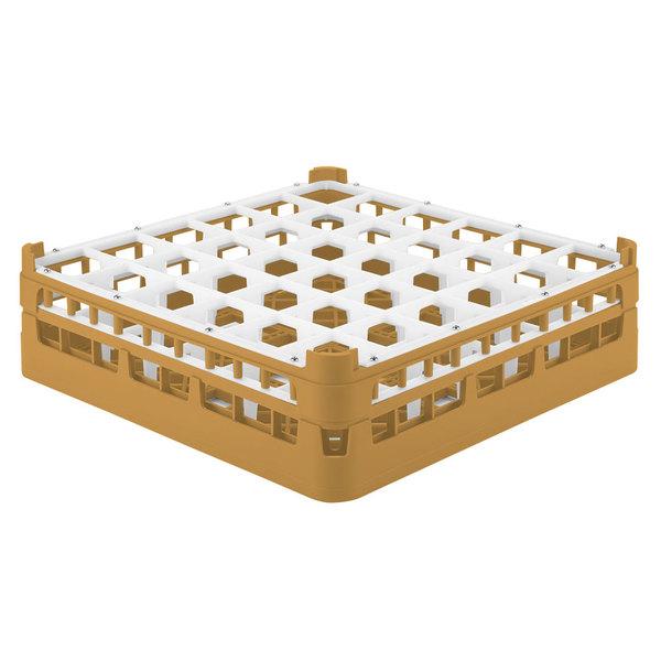 """Vollrath 52714 Signature Full-Size Gold 36-Compartment 4 5/16"""" Medium Glass Rack"""