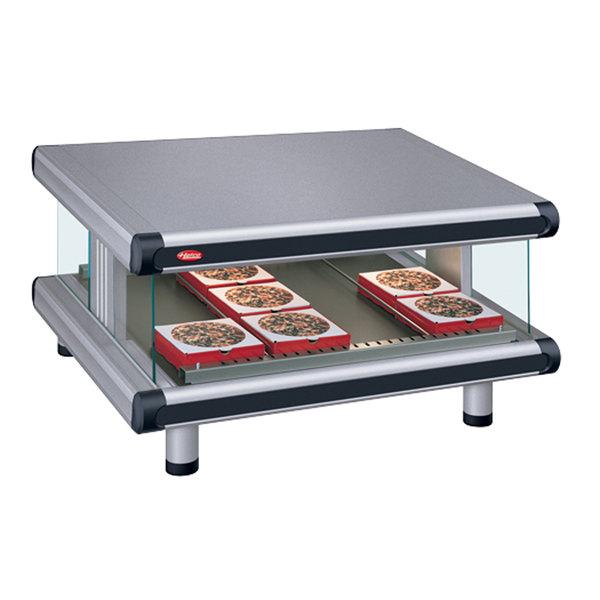 """Hatco GR2SDS-54 Gray Granite Glo-Ray Designer 54"""" Slanted Single Shelf Merchandiser - 120V Main Image 1"""