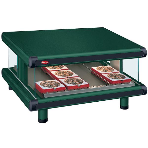 """Hatco GR2SDS-48 Hunter Green Glo-Ray Designer 48"""" Slanted Single Shelf Merchandiser - 120V Main Image 1"""
