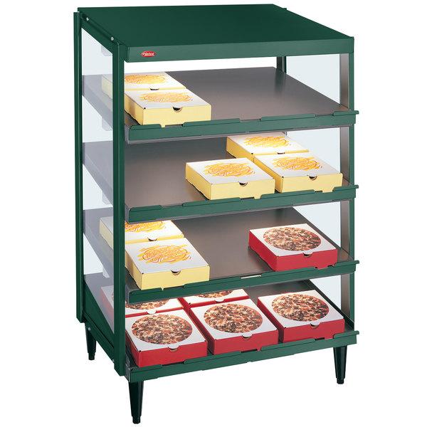 "Hatco GRPWS-2418Q Hunter Green Glo-Ray 24"" Quadruple Shelf Pizza Warmer - 120/208V, 1920W"