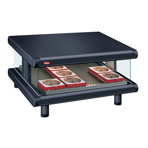 "Hatco GR2SDS-60 Black Glo-Ray Designer 60"" Slanted Single Shelf Merchandiser - 120V"