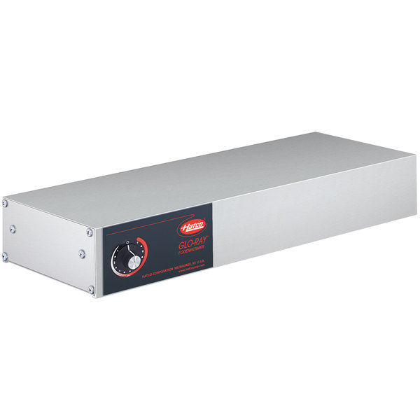 """Hatco GRH-18 Glo-Ray 18"""" Stainless Steel Single High Wattage Infrared Warmer with Infinite Controls - 208V, 350W"""