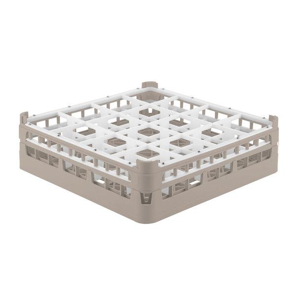 """Vollrath 52718 Signature Full-Size Beige 16-Compartment 4 5/16"""" Medium Glass Rack Main Image 1"""