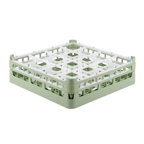 "Vollrath 52718 Signature Full-Size Light Green 16-Compartment 4 5/16"" Medium Glass Rack Main Image 1"