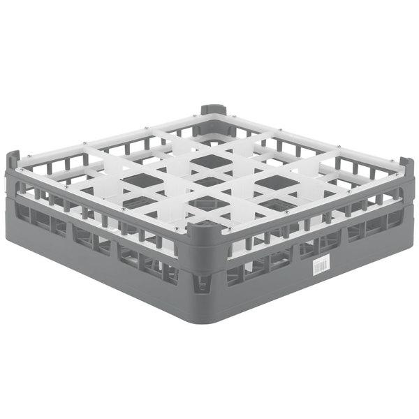 "Vollrath 52727 Signature Full-Size Gray 9-Compartment 4 5/16"" Medium Glass Rack Main Image 1"